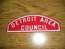 Detroit Area Council Red/White Council Strip - Scout