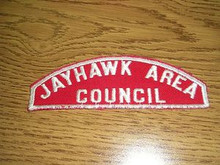 Jayhawk Area Council Red/White Council Strip - Scout