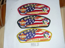 2010 National Jamboree JSP - Minsi Trails Council, 3 patch set