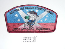 2001 National Jamboree JSP - Western Los Angeles County Council JSP, Maroon bdr