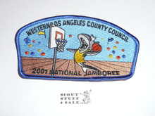 2001 National Jamboree JSP - Western Los Angeles County Council JSP, Blue bdr