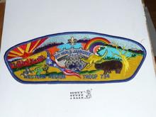 1987-1988 Boy Scout World Jamboree USA Western Region Troop 734 Jacket Patch (Shaped Like JSP)