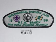 1987-1988 Boy Scout World Jamboree Badgers Club JSP Patch