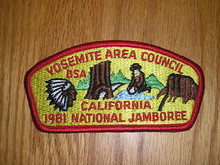 1981 National Jamboree JSP - Yosemite Area Cncl -2 Diff