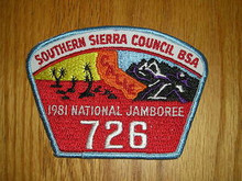 1981 National Jamboree JSP - Southern Sierra Council