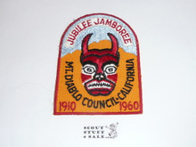 1960 National Jamboree JSP - Mt Diablo Council Contingent Patch