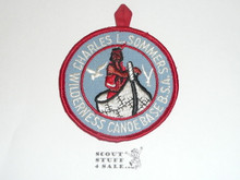 Charles L. Sommers Wilderness Canoe Base R/E Medium Blue Twill Patch With Ribbon Loop