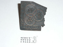 Theodore Roosevelt Council 1968 Expo Neckerchief Slide - Boy Scout