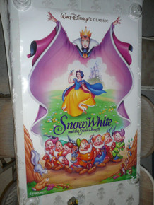 SNOW WHITE ORIG DISNEY MOVIE POSTER Re-release DOUBLE SIDED w/serial number