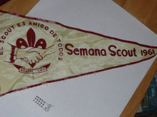 Semana Scout Pennant from 1961 - Boy Scout