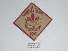 Semana Scout Patch from 1961, Flocked onto composition material