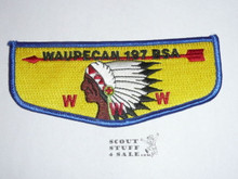 Order of the Arrow Lodge #197 Waupecan solid Flap Patch - Boy Scout