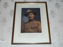 Major General Robert Baden Powell Print, Defender of Mafeking, 1900's
