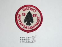 Los Angeles Area Council 1966 District Winter Encampment Patch - Boy Scout