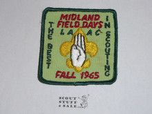 Los Angeles Area Council 1965 Midland District Field Day Patch