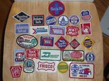 Large Collection of 27 MINT 1950's-60's Railroad Patches