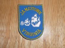 Jamestown VA - Old Souvenir Travel Patch