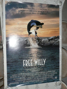 FREE WILLY MOVIE POSTER 2 Sided ORIGINAL ROLLED 27x40