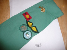 1970's Girl Scout Sash with a Few Patches and Pins