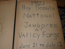 1950 Boy Scout National Jamboree Scrapbook with 51 pages of pictures, PA8