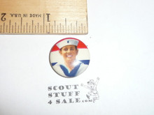 Sea Scout Red/White/Blue Celluloid Boy Scout Button