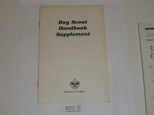 1989 Boy Scout Handbook Supplement, Realigned Boy Scout Requirements, 1989 printing