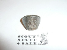 Silver First Class Emblem Boy Scout Ring, SILVER