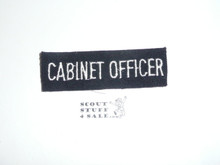 Sea Scout Position Patch, Cabinet Officer on blue felt, 1960's