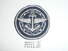 Senior Scout / Explorer Advisor Patch on Blue (SS-07 / EX-10), CAW Design