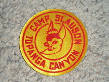 1950's Camp Slauson Sateen Patch - Southern California Scouting