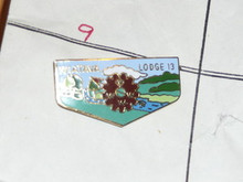 Wiatava O.A. Lodge #13 Flap Shaped Pin - Scout