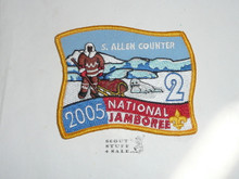 2005 National Jamboree Subcamp 2 Patch, S. Allen Counter