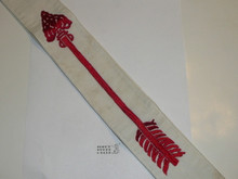 1960's Embroidered On Twill Ordeal Order of the Arrow Sash, Heavy Twill With Narrow Edge Border, Very Good Used Condition, 26""