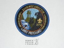 2013 National Jamboree Patch, Larry Pritchard Jamboree Director