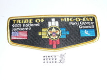 Tribe of Mic-O-Say (Pony Express Council) - 2001 National Jamboree Flap Patch