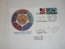 2005 National Jamboree Envelope with Jamboree Cancellation and autographs by VIPs
