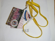 2005 National Jamboree ID Card with Driving Permit, Staff Dining Card and Lunch Tickets on Lanyard