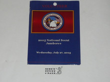 2005 National Jamboree 7-27 Volunteer Day Pass