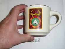 National Camp School Mug, gold rimmed