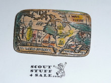 1983 Boy Scout World Jamboree Resin Map Pin