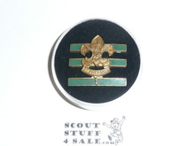 Junior Assistant Scoutmaster Hat Pin, Squatty Crown, Post with spin lock 21273