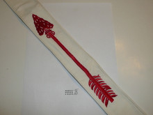 1950's Embroidered On Twill Ordeal Order of the Arrow Sash, Heavy Twill and Edge Embroidery, Best Quality, New or Like New Condition, 27""