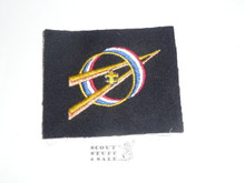 Sea Scout Exploring Universal Emblem Patch on Blue Felt, 1970's