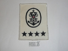 Sea Scout Position Patch, National Sea Scout Committee on White Twill r/e, 1970's, MINT