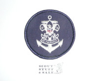 Sea Scout Universal Emblem Patch on Blue Twill, 1980's