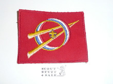 Explorer Scout Universal Emblem from the 1970's in Red with cut edge border