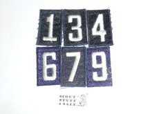 Sea Scout Unit Numbers, Blue Embroidered 1 3 4 6 7 9