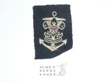 Sea Scout Position Patch, Quartermaster on blue felt