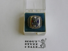 Eagle Scout Ring, 1940's STERLING Silver, Mint Condition, some tarnish but can be polished, Size 7.5, Can be sized to fit