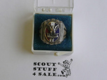 Eagle Scout Ring, 1940's STERLING Silver, Mint Condition, some tarnish but can be polished, Size 6, Can be sized to fit